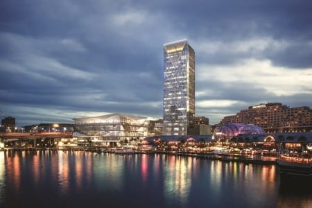 Rendering of the 660-plus room luxury ICC Sydney hotel
