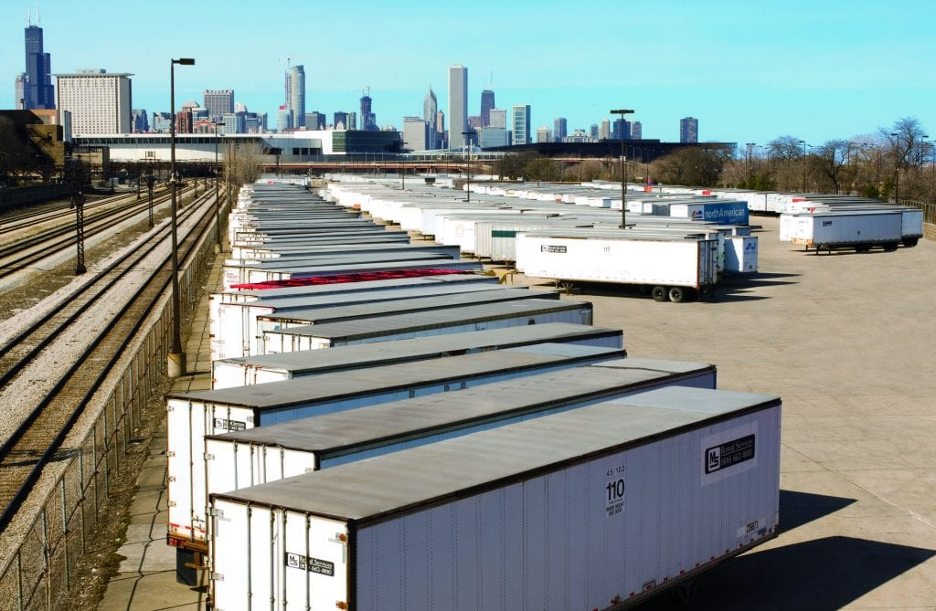 Many GSCs direct operations from McCormick Place's 562,500 square-foot marshalling yard.