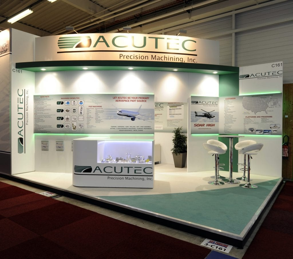 Acutec's white panels and colorful product photos enlarged the presence of its less than 36 square-meter stand