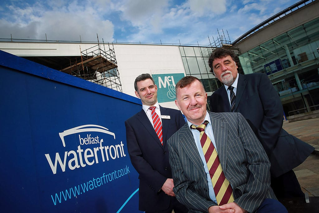 Left to right: Peter McCartney, Great Britain and international conference sales executive, Belfast Waterfront; Steve White consultant eye surgeon, Royal Victoria Hospital; Will Trimble, event coordinator, Belfast Waterfront.