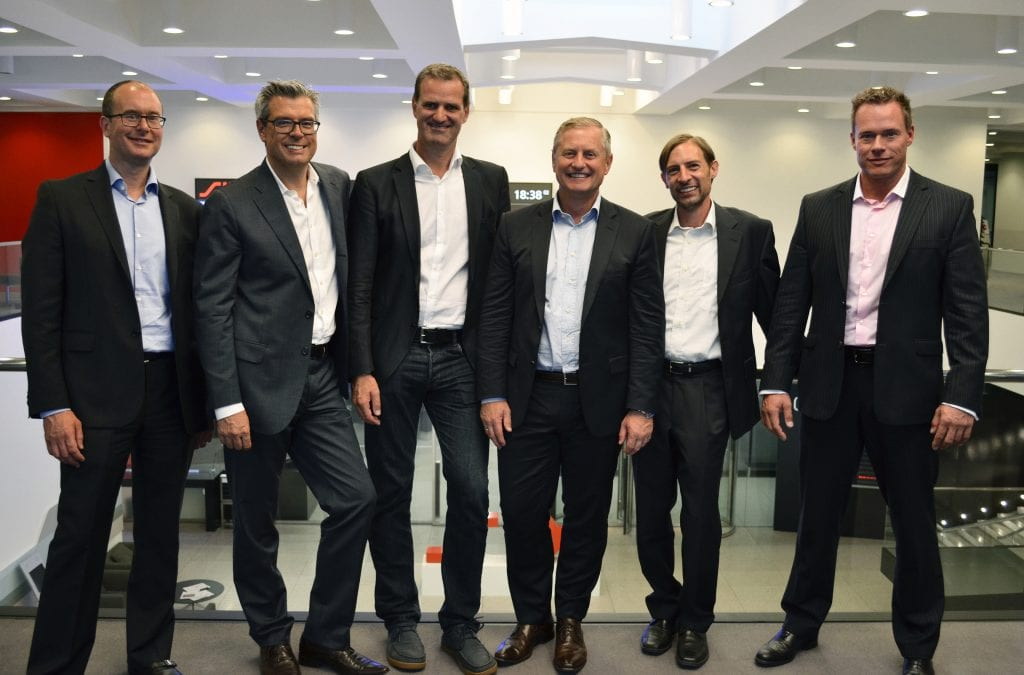 Left to right: Mike Alic (BOD), Roland Kuemin (CEO), Peter Koch (BOD), Dr. Stefan Hencke (COB), Dr. Jean-Marc Piaz (BOD), Martin Trepp (CFO)