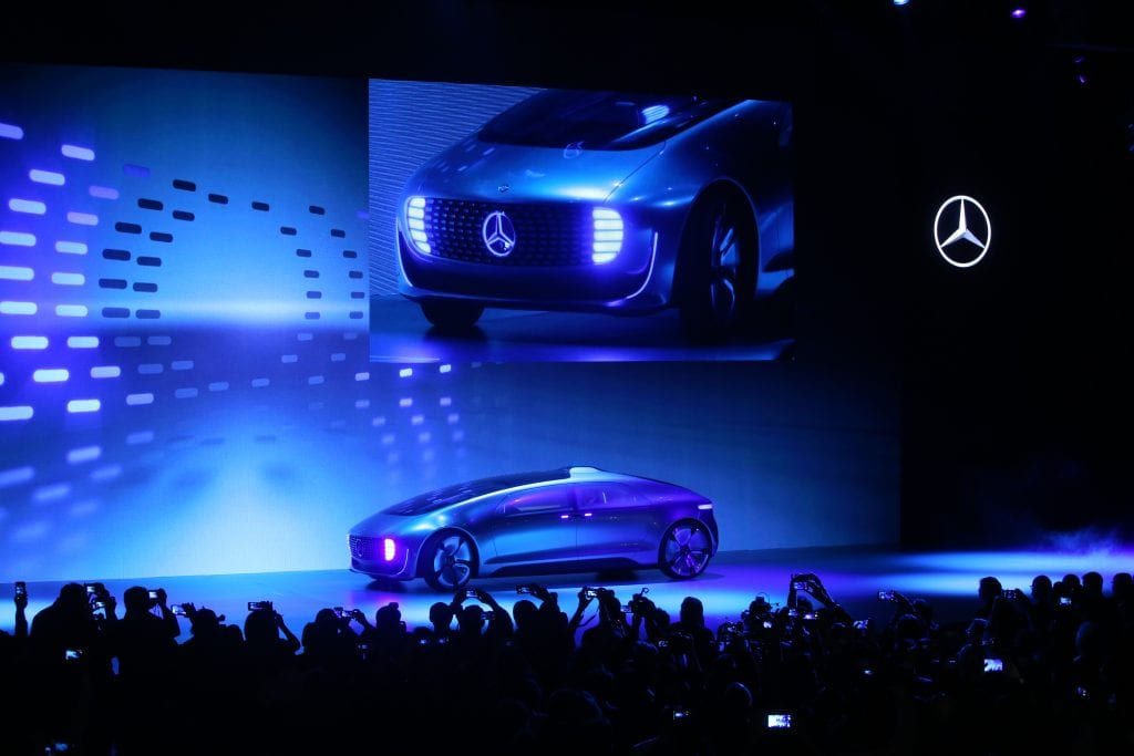 Mercedes Benz revealed its F 015 concept car revealed during its Keynote Address at CES 2015