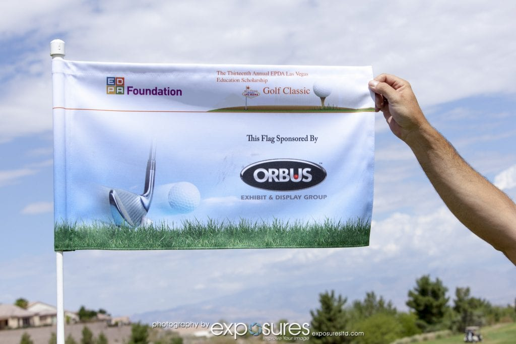 Orbus donated flags and outdoor tents to the 13th Annual EDPA Las Vegas Education Scholarship Golf Classic