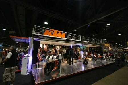 Mobile showroom for KTM Bikes