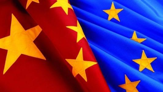 Chine Eu flags