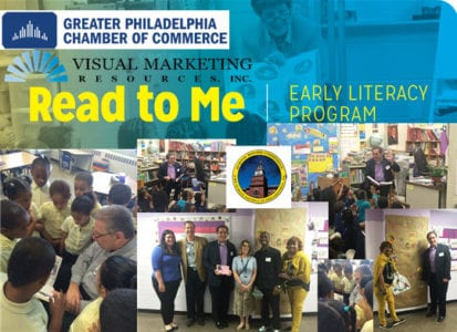 Visual Marketing Resources Inc sponsors Read To Me event with the Greater Philadelphia Chamber of Commerce