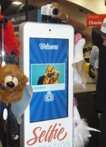 cloudera-offered-a-selfie-station-with-masks-accessories-and-a-free-print-out-of-the-photo