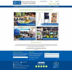 IDEC Displays new homepage