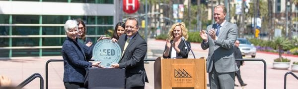 Mayor Kevin Faulconer Celebrates San Diego Convention Center at LEEDGold Certification Event