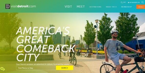 Detroit Metro Convention & Visitor Bureau's Website Named One of 25 Best Tourism Board Websites