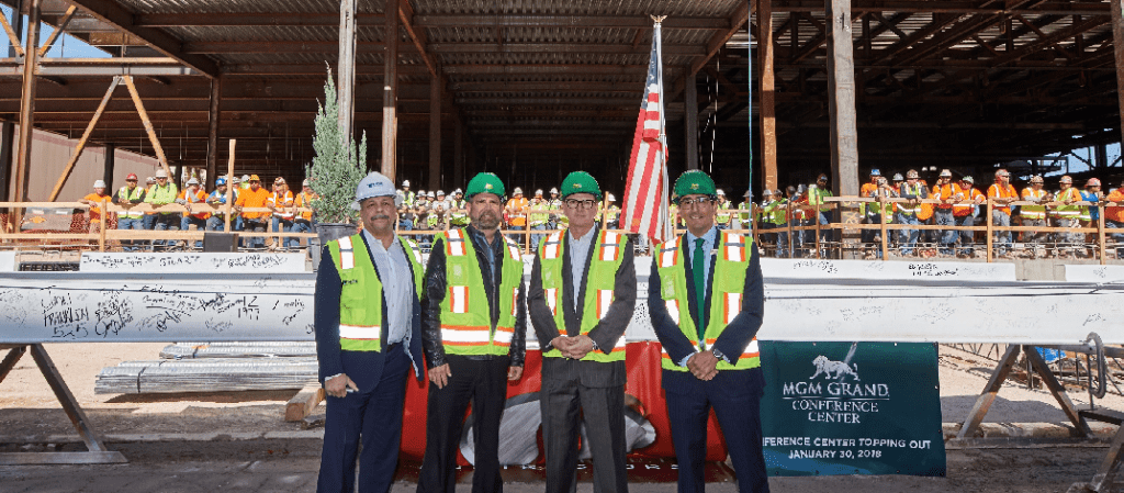 MGM Grand Conference Center Expansion  Celebrates Topping Out Milestone