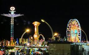 Canadian National Exhibition at night
