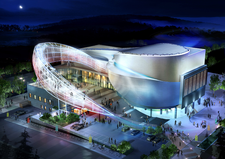 Diverse world expo features environmentally sustainable for Average cost to build a pavilion